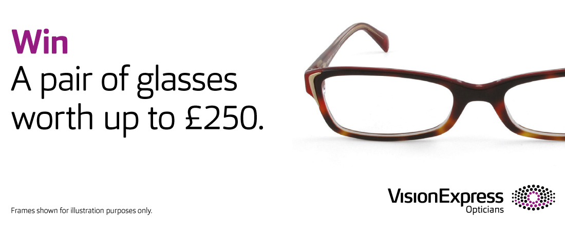 Win A Pair of Glasses Worth Up To £250 With Vision Express